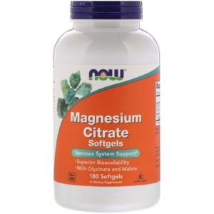 Now Foods Magnesium Citrate 400mg 180 Softgels