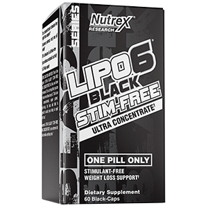 Nutrex Lipo 6 Black Ultra Concentrated Stim Free 60 Capsules