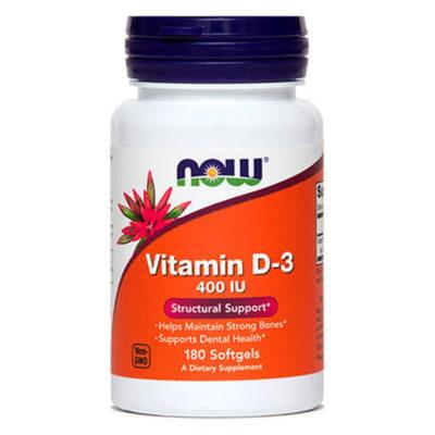 Now Foods Vitamin D-3 400IU 180 Softgels - FitAndHealthy.ro