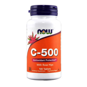 Now Foods C-500 With Rose Hips 100 Tablets